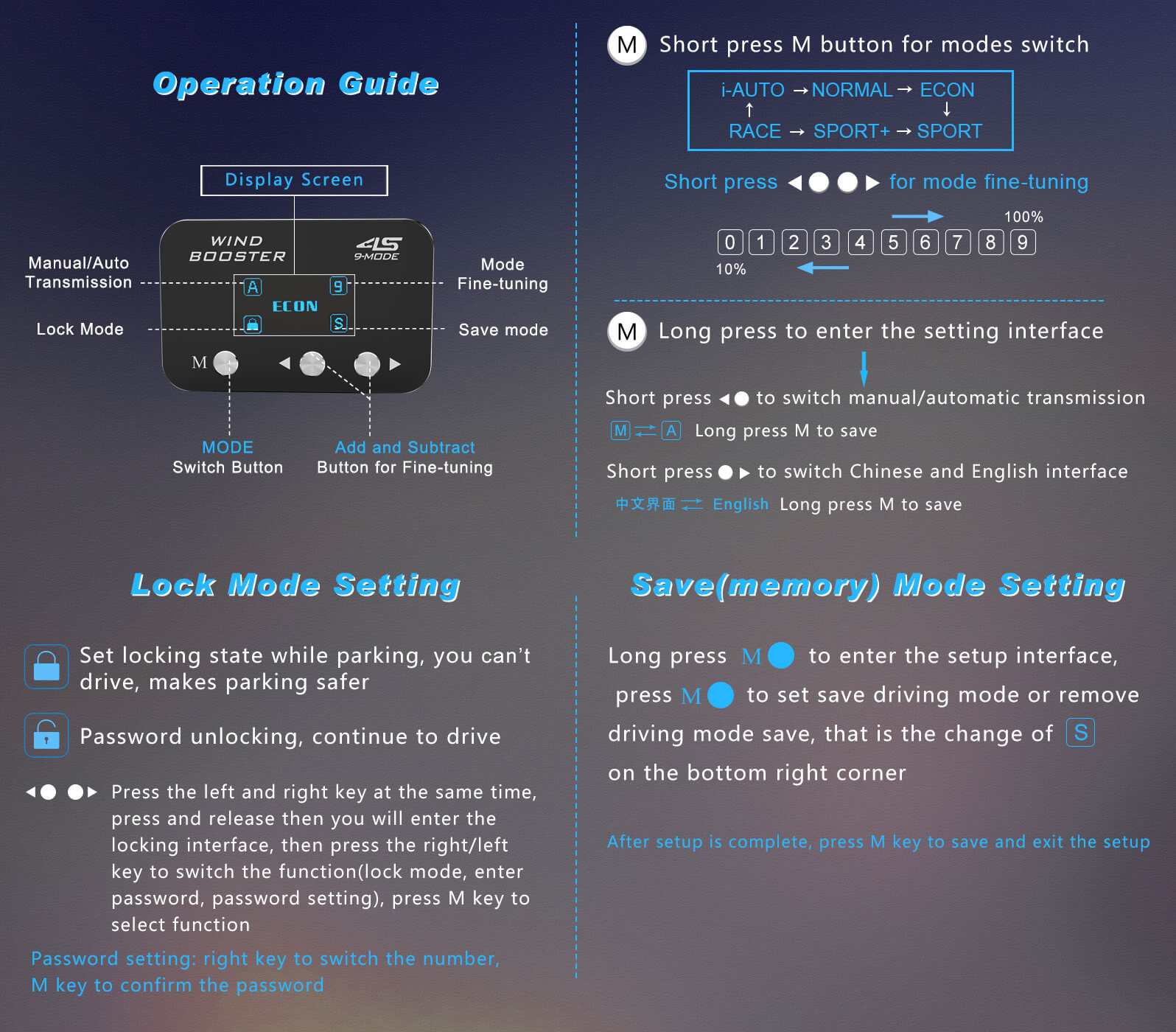 4s operation guide